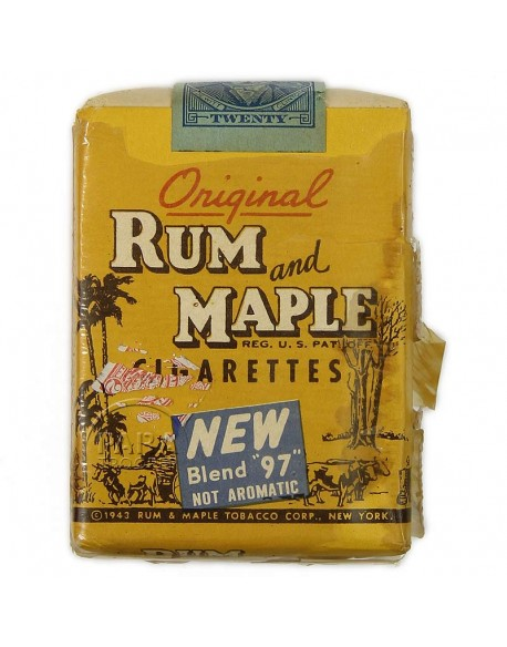 Cigarettes, Rum and Maple, pack, 1944