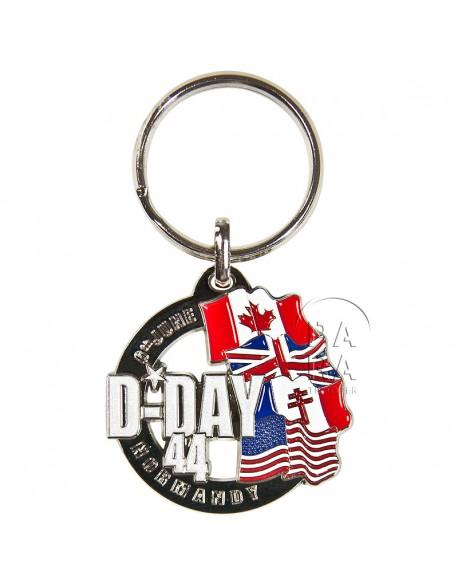 Porte-clés D-Day, drapeaux