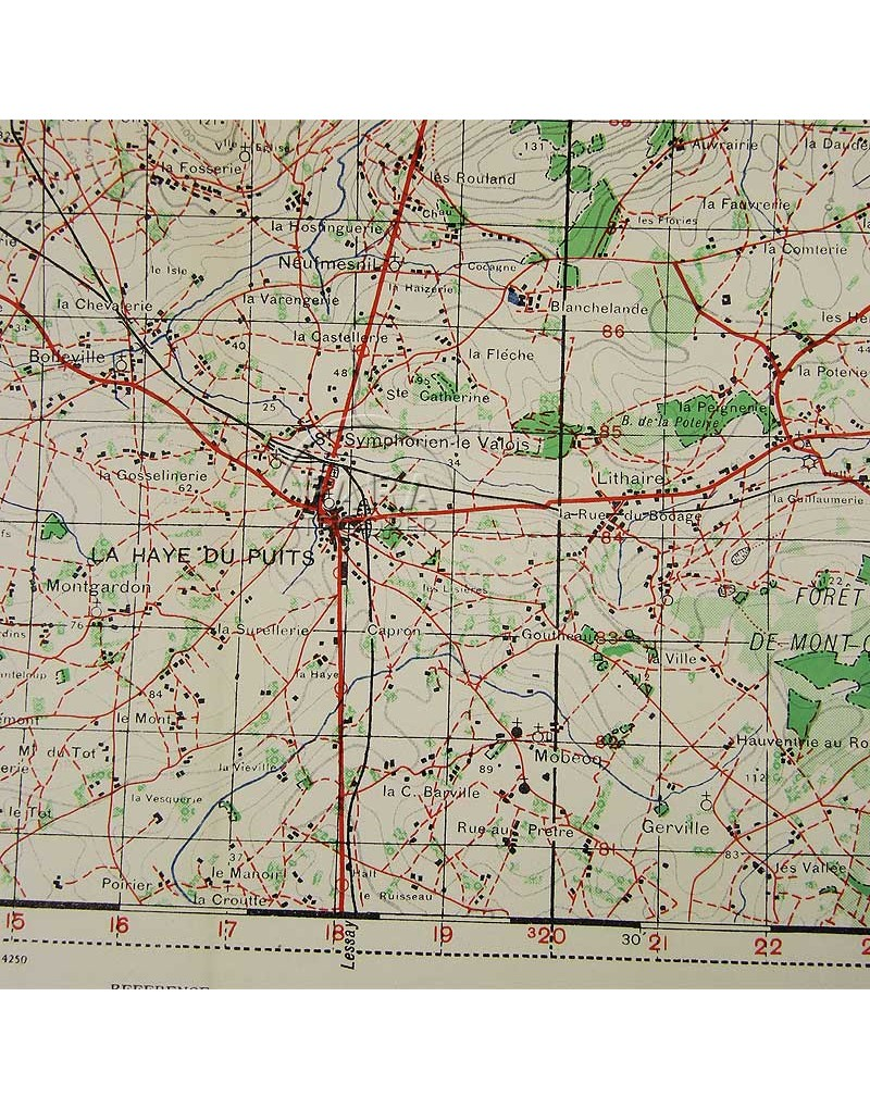 La On Us Map.Map Us Army La Haye Du Puits Normandy 1943 Paratrooper