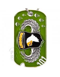 Plaque d'identité D-Day, 101e Airborne, brevet