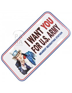 Plaque de véhicule I Want You