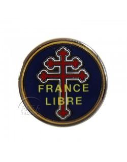 Crest métallique  France Libre