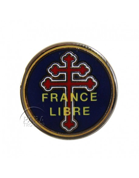 Crest métallique France Libre