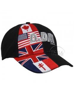 Cap, Baseball, D-Day flags