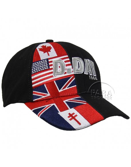 Cap, Baseball, D-Day flags