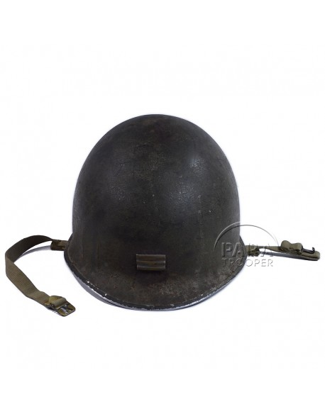Coque de casque M1, Capitaine, grade soudé, France Libre