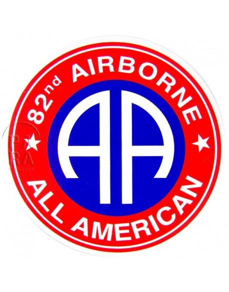 Autocollant 82e Airborne rond