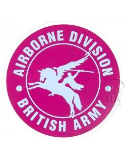 Autocollant british airborne, rond