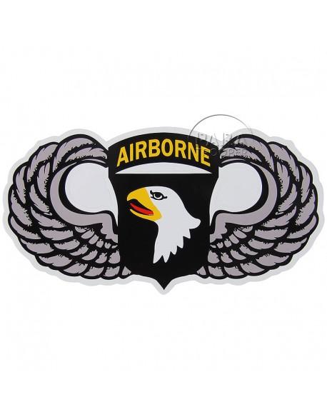 Autocollant 101ème airborne, ailé