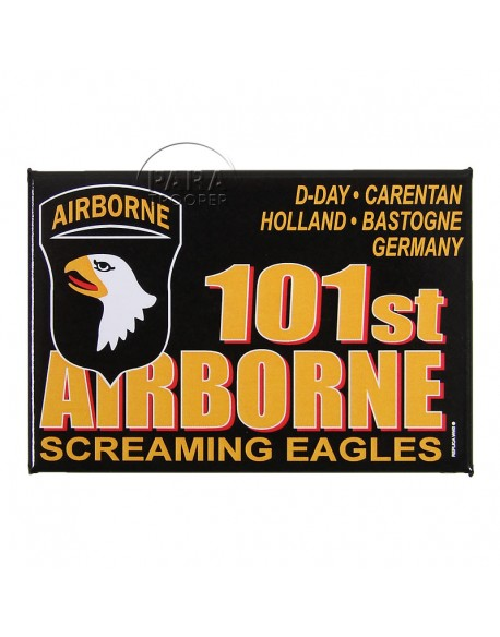 Plaque, Vehicle, black, 101st airborne