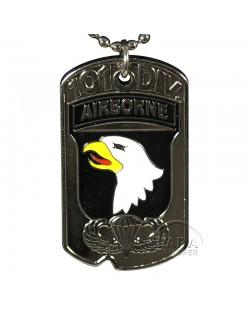 Plaque d'identité D-Day, 101e Airborne