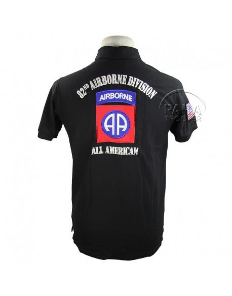 Polo, black, 82nd AB, AIRBORNE