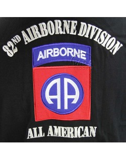 Polo, black, 82nd Abn., AIRBORNE