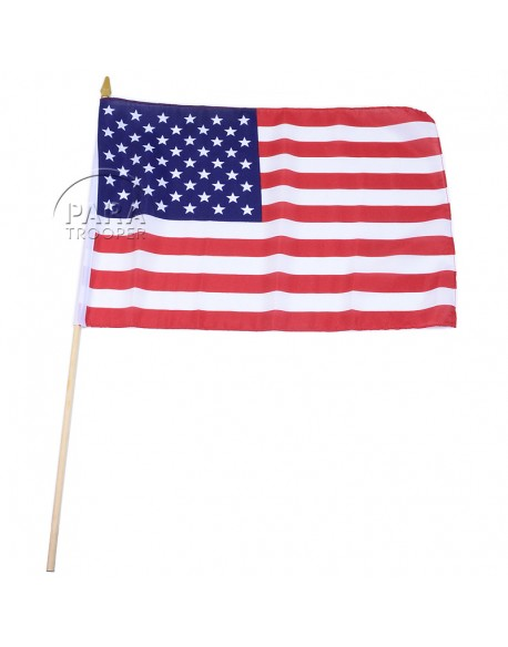 Flag, USA, on stick