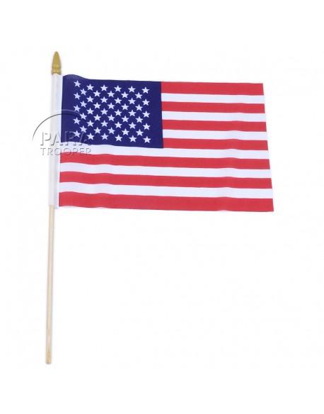 Drapeau USA, sur bâton