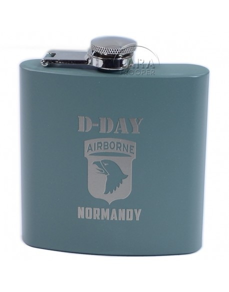Flask, OD, 101st Airborne, Normandy