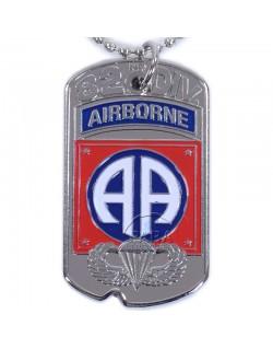Plaque d'identité, D-Day, 82e Airborne Div.