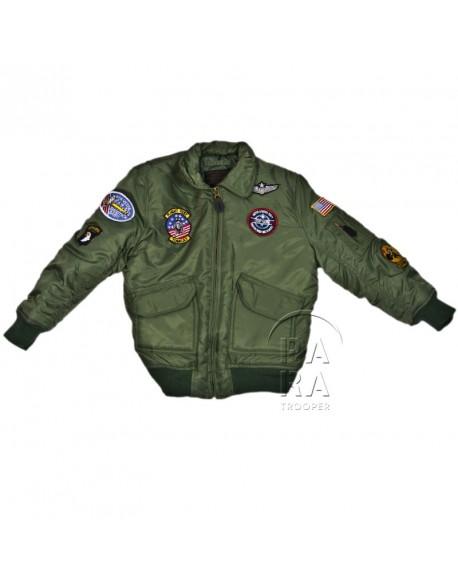 Jacket, Bomber, Child, US, khaki