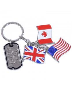 Key Ring, D-Day flag (Tassel), Large