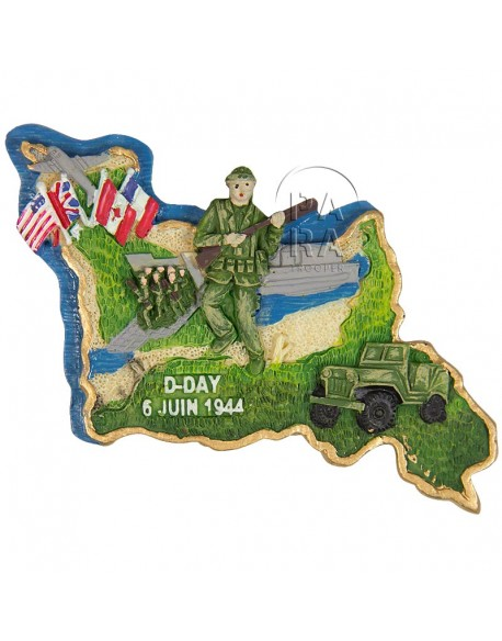Magnet Normandie D-Day 6 juin 1944