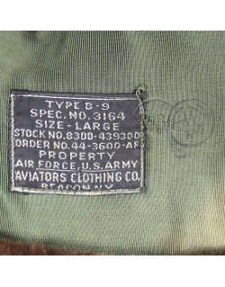 Bonnet de vol fourré, B-9, 1944