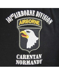 Polo noir, 101st Airborne, Carentan - Normandy