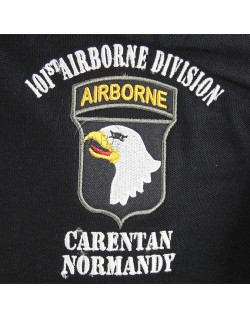 Polo, black, 502nd P.I.R., 101st Airborne, Carentan