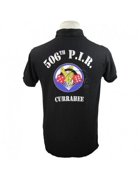 Polo, black, 506th P.I.R., 101st Airborne, Carentan
