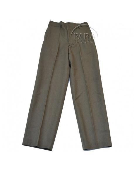 Trousers, Wool, Serge, OD, Light shade, 32 x 33, 1943