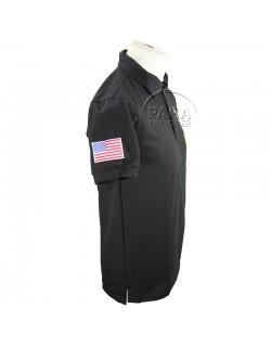 Polo, black, 101st Abn., AIRBORNE, Carentan