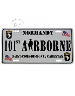 Plaque de véhicule, 101st Airborne, Saint-Côme / Carentan