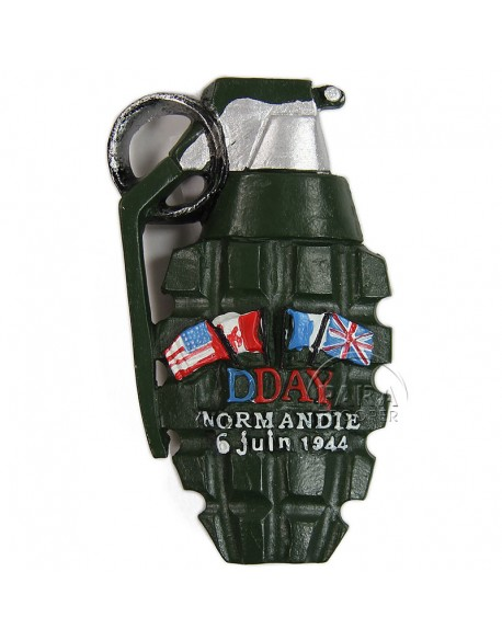 Magnet, Grenade, D-Day Normandie, résine