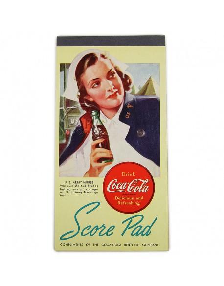 Score pad, Coca-Cola, Nurse
