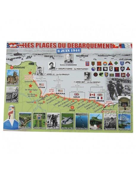 Carte Postale les plages du débarquement