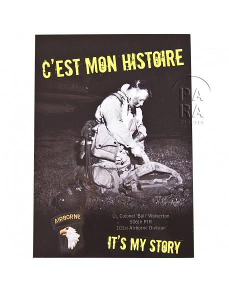 Carte postale C'est Mon Histoire (Lt Col. Wolverton)