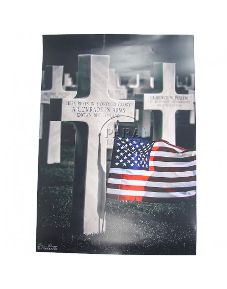 Poster, American Cimetery, Normandy