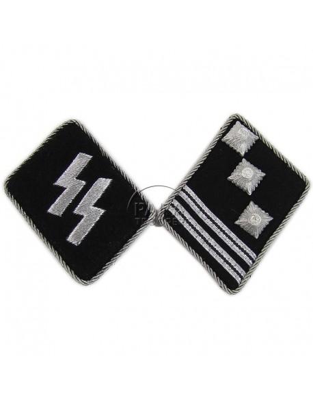 Collar tabs, Waffen SS, Hauptsturmfürer