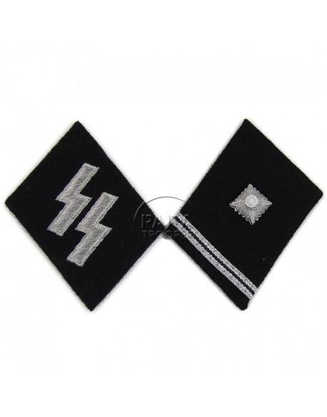 Collar tabs, Waffen SS, Scharführer