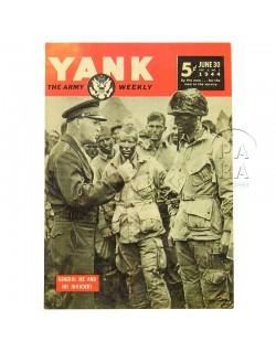 Carte postale, YANK, Strobel - Eisenhower