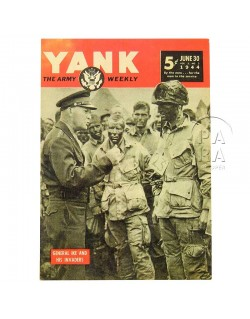 Postcard, YANK, Strobel - Eisenhower