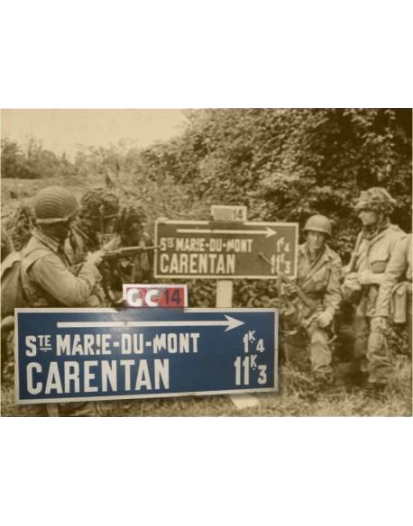 Panneau Sainte-Marie-du-Mont Carentan, CG14, 6 juin 1944