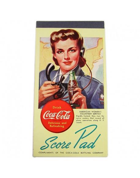 Score pad, Coca-Cola, AWVS