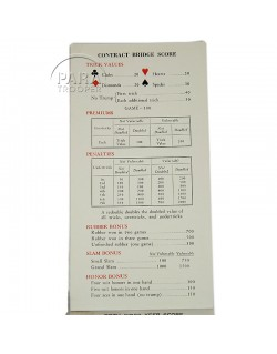 Carnet de score, Coca-Cola, AWVS