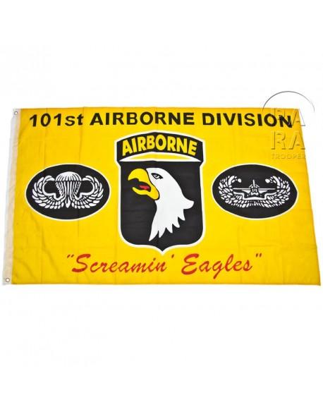 Drapeau 101ème airborne, jaune