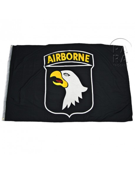 Drapeau 101ème airborne, noir