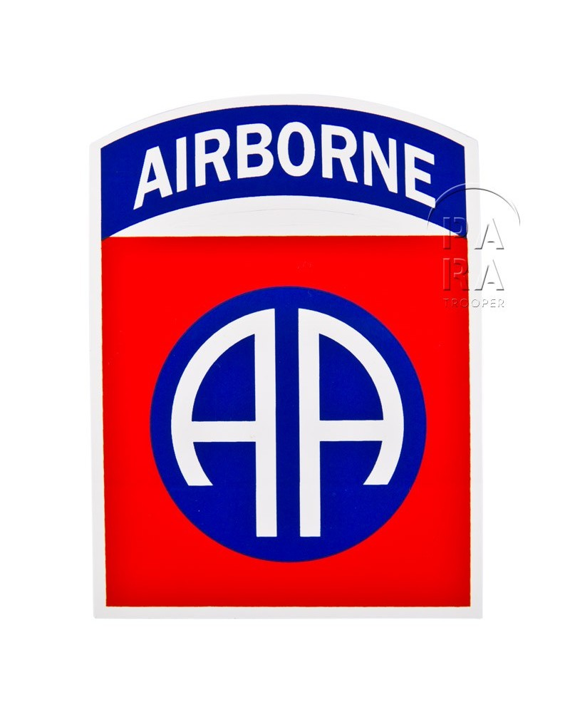 sticker 82nd airborne paratrooper. Black Bedroom Furniture Sets. Home Design Ideas
