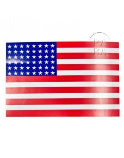 Autocollant drapeau américain 48 étoiles