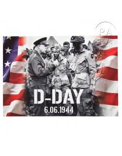 Carte postale Eisenhower, drapeau