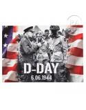 Postcard, Eisenhower, flags