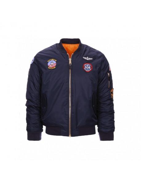 Jacket, Bomber, Child, US, Blue